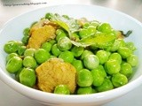Buttered Peas With Chicken Chunks