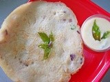 Onion Pancake with Lime Garlic Dipping Sauce