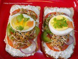 Open Faced Sandwich With Pickled Sprouts