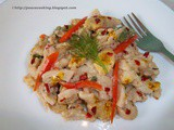 Pasta With Mixed Vegetable And Baby Corn In Cream Sauce