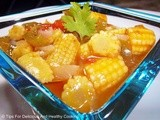 Pepper n Baby Corn in Lemon Sauce