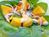 Pumpkin Salad with NuNatural's Orange Lemon Vinaigrette