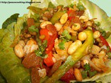 Salad  With  Mixed Green Vegetables And Sprouts