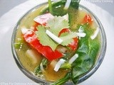 Spinach Pepper And Coconut Clear Soup