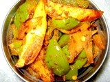 Bell-pepper  Potato and Onion dry vegetable (Shimla Mirch Aloo Sabzi)