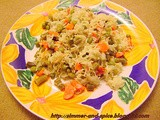Carrot Peas and French beans Pulao