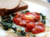 Egg with Spinach and Salsa
