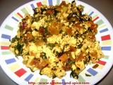Methi Paneer Sabzi ( Fenugreek and Indian Cottage cheese veggie)