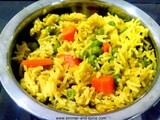 Peas and Carrot Pilaf | Gajar Matar Pulao