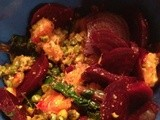 Beets & Their Greens with Orange-Pistachio Topping