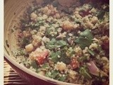 Warm Quinoa Salad with Chickpeas & Chard