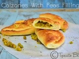 Calzones With Peas Filling Recipe| Yeast Bread Recipes