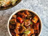 Indo Chinese Style Paneer Bell Pepper Stir Fry Recipe