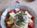 Ukrainian Tomato and Cucumber Salad with Sour Cream Dressing – Ucraina