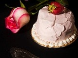 White rose cake per Re-cake