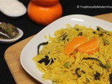 Orange Pulav | Orange Pilaf | Orange Rice