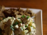 Chickpea and Potato Salad (and homemade cashew mayonnaise)