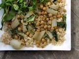 Quick and Easy Bok Choy (or Cabbage) and Chickpeas with Miso and Balsamic Dressing