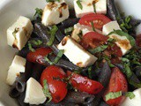 Black Bean Penne Caprese Salad