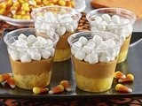 Candy Corn Butterscotch Pudding Cups