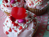 Cream Filled Valentine Cupcakes