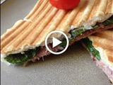 Goat Cheese, Spinach and Black Forest Schinken Panini