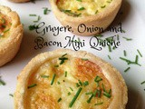 Gruyere, Onion and Bacon Mini Quiche