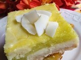 Key Lime Cheesecake Bars with Toasted Coconut Crust
