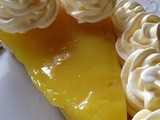 Lemon Tart with Meringue Cookies~