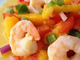 Lime-Garlic Shrimp with Mango-Mint Salsa