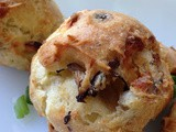 Mushroom and Blue Cheese Gougeres #SundaySupper