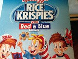 Red and Blue Rice Krispies Treats