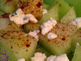 Seasoned Melon with Blue Cheese and Honey