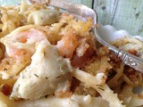 Shrimp and Artichoke Alfredo Casserole
