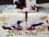 White Chocolate Cherry Walnut Fudge