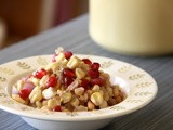 Corn and Pomegranate Saute: Great for the holidays or any day