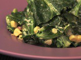 Spicy Collard Greens with Corn