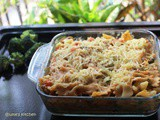 Baked Chicken Pasta with White Sauce