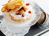 Millefoglie di ananas e cocco | Pineapple and coconut millefeuille