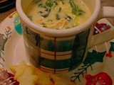 Christmas Confetti Soup with Buttered Croutons