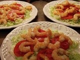 Shrimp Cocktail Salad with Horseradish Dressing