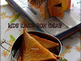 Bread toast with Strawberry Jam-Kids Lunch Box Ideas