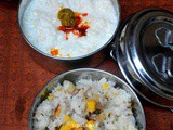 Corn Rice and Curd Rice-Kids Lunch box Ideas