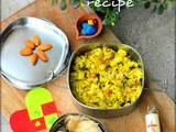 Kids Lunch Box ideas-Masala Lemon Rice and Chapathi Roll