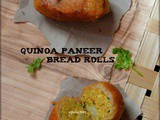 Quinoa Paneer Bread Rolls (No Onion No Garlic)