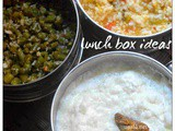 Rasam rice, Beans poriyal and Curd Rice-Lunch box ideas