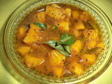 Pineapple puli pachidi /hot and sour pineapple curry