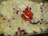 Pomegranate kesar rice