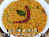 Avalakki Bisibele Bhath i Poha Bisibele Bhath with sambar powder