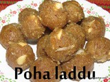 Avalakki unde i Poha laddu recipe
